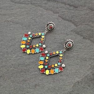 Concho Epoxy Post Earrings